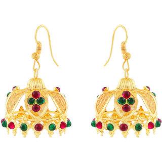 MJ Smoky Gold Plated Jhumki Earring For Women