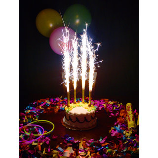 Birthday Cake Sparklers Candle 6 Pcs