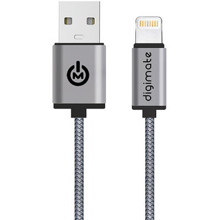 Digimate 8 Pin Mesh Lightning  Cable - Black