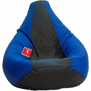 Comfy Bean Bag BLACK BLUE L SIZE Without Fillers - Cover Only