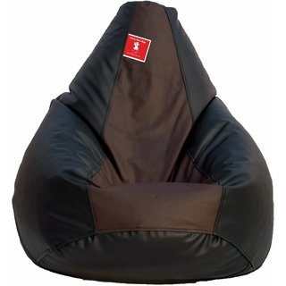 Comfy Bean Bag BLACK BROWN L SIZE Without Fillers - Cover Only