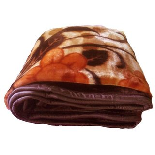 shopping store Winter Soft Double Bed Mink Floral Blanket Reveresible Blanket  ( Size 220 x 230cm)