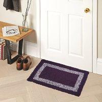 Home Berry Cotton Mat Purple 15 Inch* 23 Inch 1 Piece