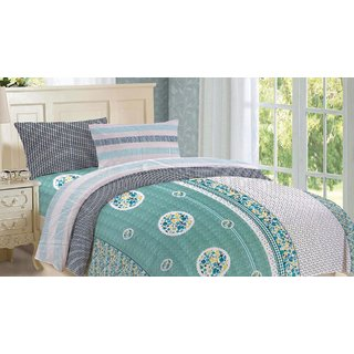 Blush Urban Hues Double Bedsheet with 2 Pillow Cover