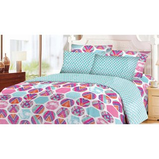 Blush Rosabelle Double Bedsheet with 2 Pillow Cover