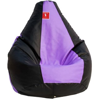 Comfy Bean Bag BLACK LAVENDER L SIZE Without Fillers - Cover Only