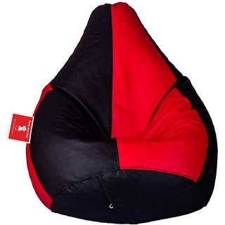 Comfy Bean Bag BLACK RED L SIZE Without Fillers - Cover Only