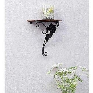 Shilpi Wooden  Wrought Iron Decorative Wall Shelf / Amazing Wall Bracket
