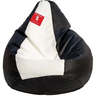 Comfy Bean Bag BLACK WHITE L SIZE Without Fillers - Cover Only