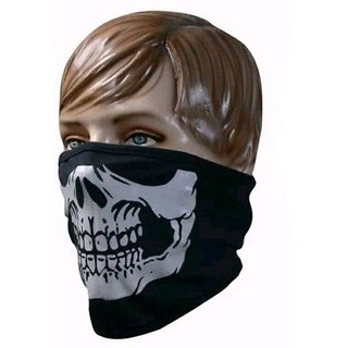 MOCOMO Imported Anti-Pollution Evil Look Half Face Mask For Men And Women, Free Size