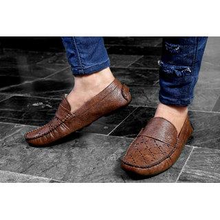 Baton Men's Brown Styalish Driving Shoes