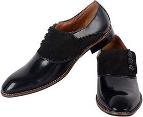 Aaiken Men's Black Formal Slip-on Shoes