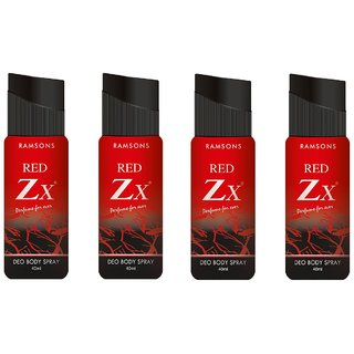 Ramsons Deo Red Zx 40ML Combo 4 Pcs