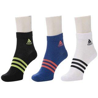 Adidas Unisex Ankle Socks - Pack of 3