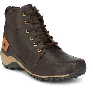 R L SHOES Men Brown Stylish  Lace up Boots