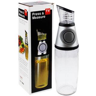 Press and Measure Glass Dispenser Oil  Vinegar Dispenser