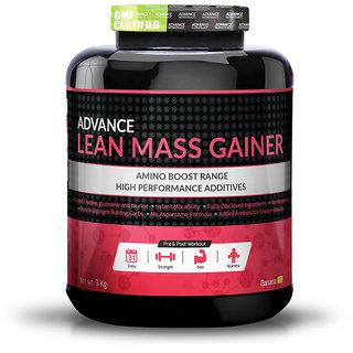 Advance Nutratech Lean Mass Gainer 3Kg (6.6LBS) BANANA weight gainer for men women