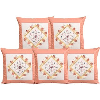 Amayra Cushion Covers 16 X 16 inch, Embroidered (SET OF 5)