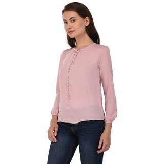 f1efac1748093 Buy SVT ADA COLLECTIONS women s party wear Pink color stylish Top ...