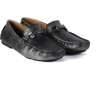 Valentino Men's Silver Original Leather Casual Loafers