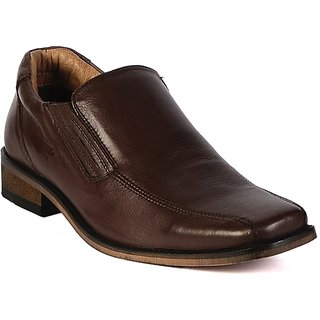 Valentino Men's Brown Original Leather Slip On Formal Shoes
