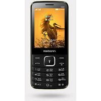 Karbonn K880 Dual SIM Basic Phone (Black Champ)