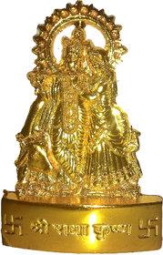 Gold Plated Cow Krishna Idol - 7 cms