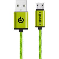 Digimate Micro USB Mesh Cable - Green