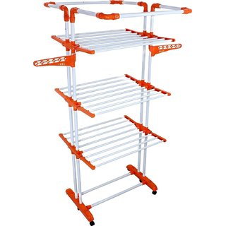 BRANCO Heavy Duty 3 Poll - 3 Layer - Cloth Dryer Stand - King Jumbo (Genuine) (7 Year WarrantyMade in India)