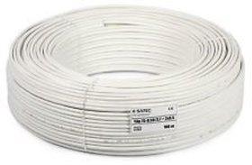 CCTV WIRE CABLE 3+1 Full Copper pvc White 90 m Wire(white)