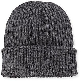aff85f8a59c Buy Tahiro Grey Woollen Winter Beanie Cap - Pack Of 1 Online - Get 51% Off