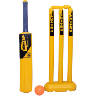 HOMMER Plastic Stump Set with Bat Bag for Juniors. Cricket Kit