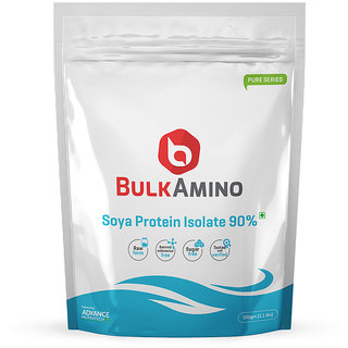 Advance Nutratech Bulkamino Soya Protein Isolate 90 Powder 500G (1.1Lbs) Unflavoured