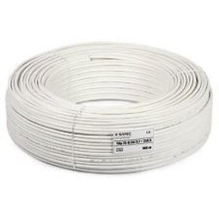 CCTV WIRE CABLE 3+1 Full Copper pvc White 90 m Wire(white)