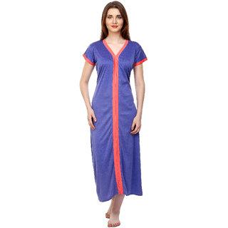 Buy Boosah Women s Blue Cotton Lycra Nighty Online - Get 63% Off 53fdfbf0e