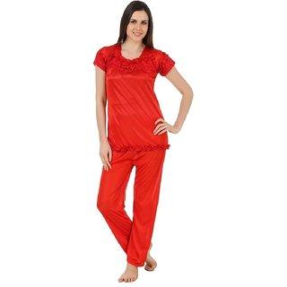 bd43004ff5e Buy Boosah Women s Red Satin 1 Night Suit Online - Get 52% Off