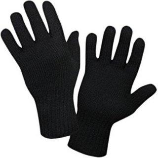 Tahiro Black Woollen Winter Gloves For Women - Pack Of 1