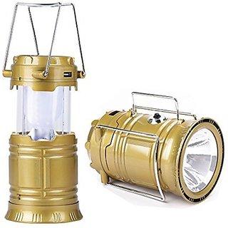 4 in 1 LED Solar 6+1 Rechargeable Lantern With Flashlight Inbuilt USB Mobile Charger ( SET OF TWO)