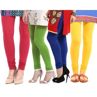Amoya Super Cotton Lycra Leggings Pack of - 4