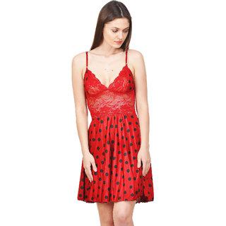 Boosah Women's Multi satin Babydoll Dress