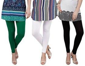 Bembee Multicolour Viscose Leggings - Pack of 3