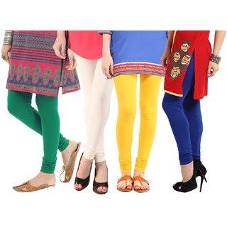Amoya Super Cotton Lycra Leggings Pack of - 4