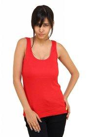 Phalin red Cotton Tank Camisole