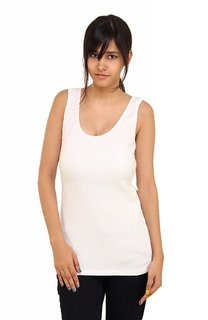 Phalin white Cotton Tank Camisole