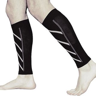 Tuzech Copper Fit Calf Compression Sleeve - Regular Use/Gym/Office/Sports - For 2 Legs