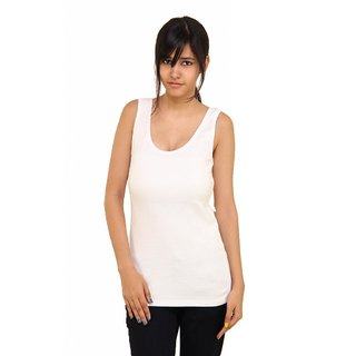 b2cece0a17cdb3 Buy Phalin white Cotton Tank Camisole Online - Get 40% Off