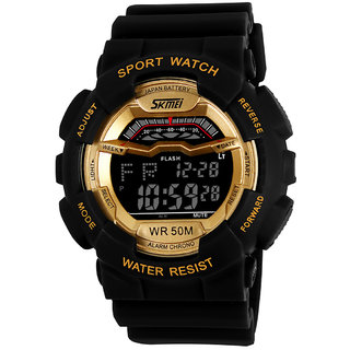 Addic Digital Multifunctional Outdoor Sports Golden Dial Men's  Boy's Watch