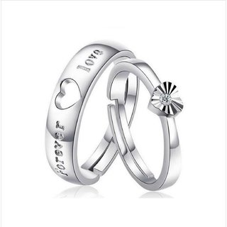 Love Forever   Elements Adjustable Couple Rings By Stylish Teens