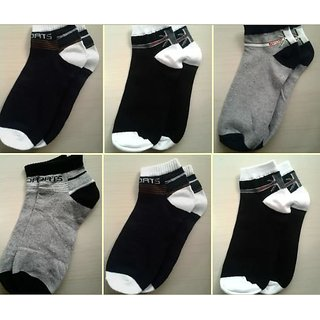 ANGEL HOME Sports Ankle Socks Pair Of 6