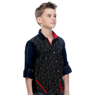 MashUp Premium Cordruoy Printed Shirt For Boys.